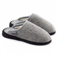 Pantofola Copenhagen Grigia in lana cotta