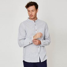 Classic stripey long sleeve shirt in hemp