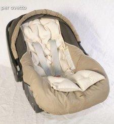 Cloud - mat for infant car seat in spelt husks