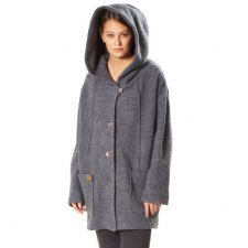 Coat Alwa in boiled merino wool