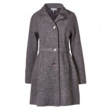 Coat Ella in boiled merino wool