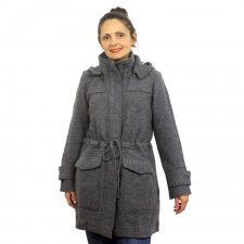 Coat Maxi in boiled merino wool