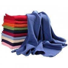 Coloured blanket in merinos wool