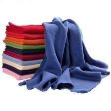 Coloured blanket in organic cotton