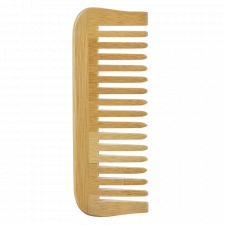 Comb in bamboo with wide teeth