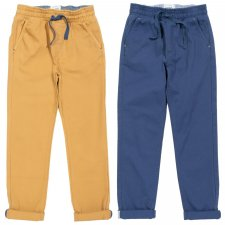 Comfy chinos navy in organic cotton for children