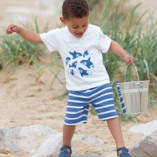 Completo per bambino Orca, T-shirt e bermuda in cotone biologico