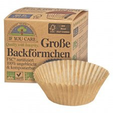 Compostable ecological baking cups IF YOU CARE