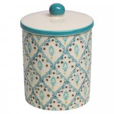 Contenitore NAILA in ceramica smaltata dipinta a mano