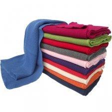 Coperta a maglia in lana merino