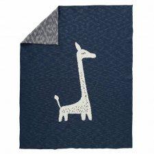 Coperta per lettino Giraffa lavorata a maglia in puro cotone biologico