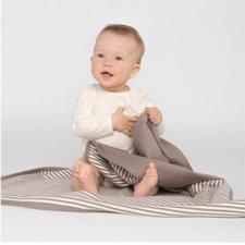 Copertina bambino a righe in cotone biologico