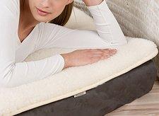 Copri materasso foderato per culla in lana merinos