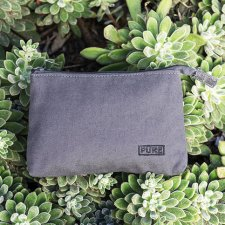 Cosmetic bag in hemp and organic cotton Pure