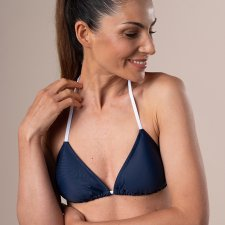 Eco bikini TOP triangolo blu in ECONYL®