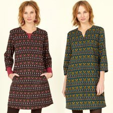 Cotton Cord Tunic Dress in fairtrade cotton