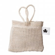 Cotton mesh pouch for solid holder