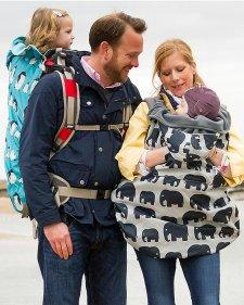 Cover Impermeabile e Termica per portabebè - Elefanti