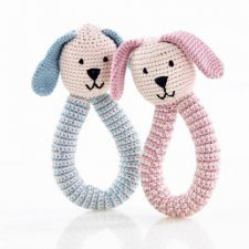 Crocheted Bunny Rattle - Organic Cotton