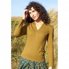 Cross over top in organic cotton jersey
