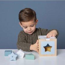 Cubo in legno ad incastro Blue