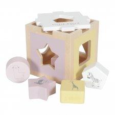 Cubo in legno ad incastro Pink