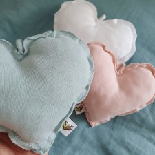 Cuore in cotone bio OMAGGIO con abbigliamento Baby nanaf organic