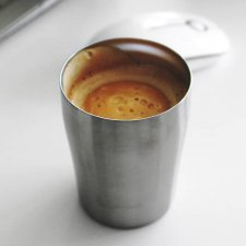 Cup Qwetch in stainless steel