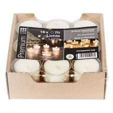 Cup tealights made of soy wax - 18 pcs