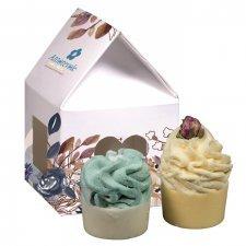 Cupcake da bagno biologico Arancia e Cannella