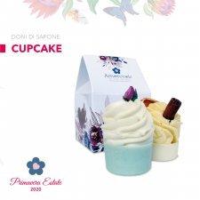 Cupcake da bagno biologico in casetta regalo