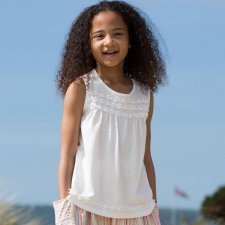 Daisy chain top girls organic cotton