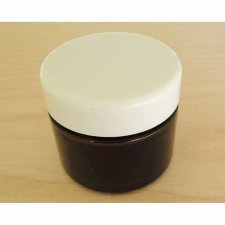 Dark glass jar 50 ml with white cap