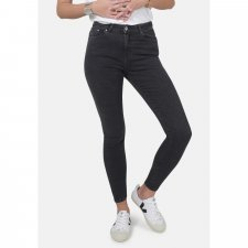 Dark Grey Eco Wash Jane High Waisted Super Skinny Organic Jeans