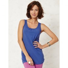 Dashka long indigo singlet top in bamboo