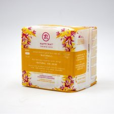 Day sanitary woman pads with wings in organic cotton