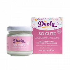Deodorante in crema Deoly SO CUTE dolce e fruttato per pelle ultra-sensibile