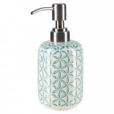 Dispenser per sapone liquido LOU in ceramica smaltata dipinta a mano