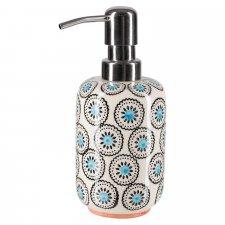Dispenser per sapone liquido MATTHES in ceramica smaltata dipinta a mano