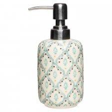 Dispenser per sapone liquido NAILA in ceramica smaltata dipinta a mano