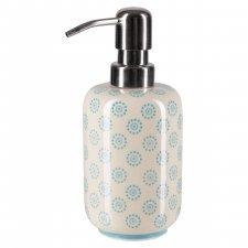 Dispenser per sapone liquido OLLO in ceramica smaltata dipinta a mano