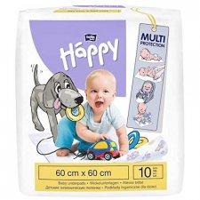 Disposable changing towel 60x60cm Happy BellaBaby - 10 pieces
