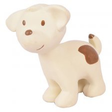 Dog Tikiri in natural rubber with rattle