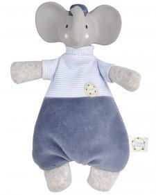 Doudou Alvin l'elefante in Cotone bio e caucciù naturale