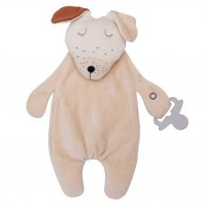 Doudou Comforter Doggy con portaciuccio in Cotone Biologico
