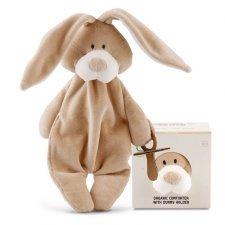 Doudou Conforter Bunny con portaciuccio in Cotone Bio