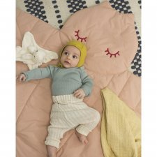 Dragonfly quilted play mat in organic cotton