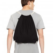 Drawstring bag in organic cotton