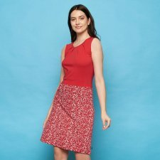 Dress Bele Red in organic cotton jersey