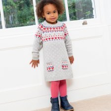 Dress in organic cotton with Nordic hearts